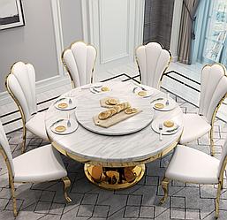 Круглый мраморный стол. Модель RD-0776