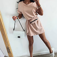 Женское летнее платье с сумочкой на поясе Амбер Норма и батал, фото 1