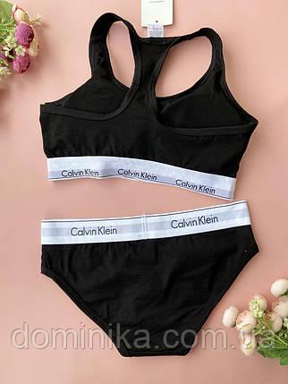 Размер М Женский комплект нижнего белья черного цвета для тренировок, спортивный топ , трусики слип, фото 2