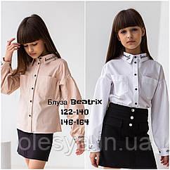 Блузка модная для девочек Beatrix тм BrilliAnt Размеры 122- 164