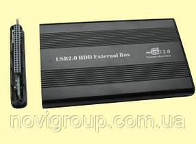 Карман (корпус) для жорстких дисків, 2,5 корпус пластик, інтерфейс USB 2.0/ IDE Black
