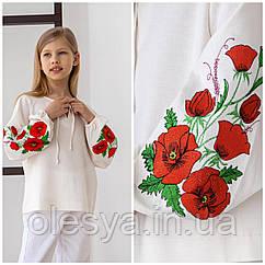 Блузка - вышиванка для Flower тм BrilliAnt Размеры 146 152 164