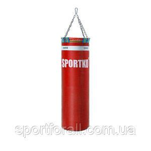 Боксерский мешок SPORTKO  Элит с цепями МП-00 (красный)