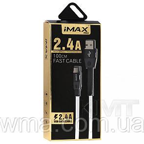 Кабель для зарядки (usb) IMax Wide Nylong — Type C USB 3.0 Cable (1m) Black