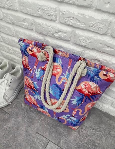 Женская пляжная сумка Flamingo