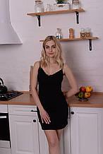 Ночная рубашка женская хлопок А26 черная
