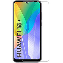 Противоударная Защитная Пленка SKLO 2.5D Nano (full glue) для Huawei Y6p Ультратонкая / Олеофобная /