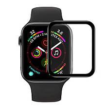 Противоударная Защитная Пленка Epik 3D (full glue) для Apple watch 38mm Полимерная / Ультратонкая / Олеофобная