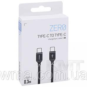 Переходник (Адаптер) Momax DC15 Zero Type C To Type C Cable (0.3m) Black
