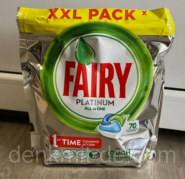 Fairy Platinum капсулы для посудомоечных машины 70 шт. Бельгия
