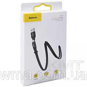 Кабель для зарядки (usb) Baseus (CALMBJ-A01) — 2 in 1 Cable (Lightning , Micro) 1.2m Black