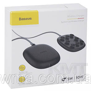Baseus (WXXP/ WXXB-02) Suction Cup Wireless Charger  — Black