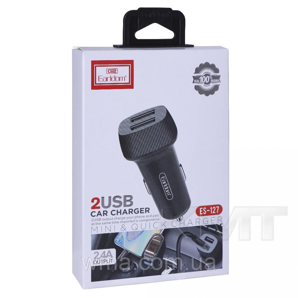 АЗУ та кабель Micro « Earldom ES-127 » -2 USB — 2.4 A — Black