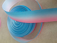 Лента репсовая 2,5см радуга №523 (25ярд)