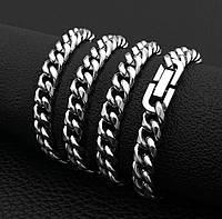 Цепочка на шею City-A Панцирное плетение Панцирь из Нержавеющей Стали Серебряная 50 см 8 мм №3138