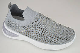 Мокасины текстильные Sopra B026 37 Серый