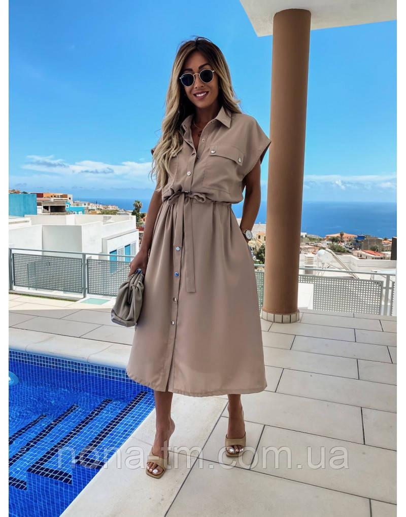 Жіноче плаття літнє на кнопках (Норма, Батал)