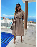 Женское платье-рубашка красивое длины Миди (Норма, Батал), фото 4