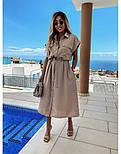 Жіноча сукня-сорочка красиве довжини Міді (Норма, Батал), фото 4