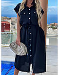 Женское платье-рубашка красивое длины Миди (Норма, Батал), фото 2