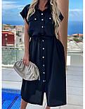 Жіноча сукня-сорочка красиве довжини Міді (Норма, Батал), фото 2