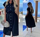 Женское платье-рубашка красивое длины Миди (Норма, Батал), фото 3