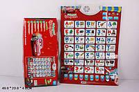 Детский обучающий плакат русская говорящая абетка. Азбука музыкальная арт.7289