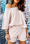Костюм женский летний с шортами и футболкой, фото 3