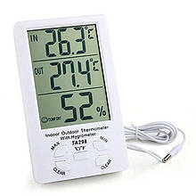 Термометр с гигрометром TA298, с выносным датчиком