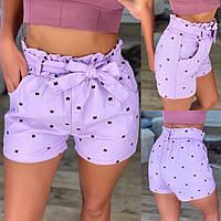 Женские стильные летние шорты с поясом в комплекте, фото 1