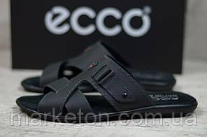 Чоловічі шкіряні шльопанці Чорні Ecco