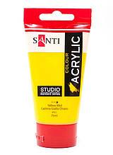 Краска акриловая Santi Studio Кадмий желтый светлый