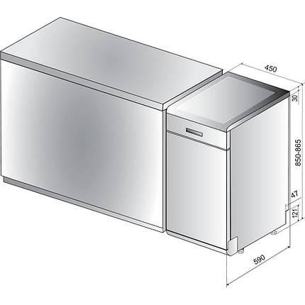 Посудомоечная машина Hotpoint-Ariston HSFO 3T235 WC X, фото 2