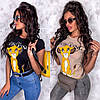 Женская стильная футболка с мультяшным рисунком