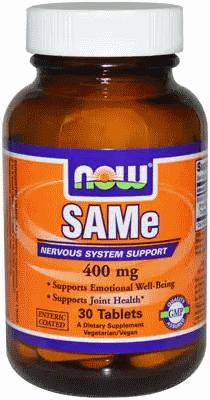 SAMe, Now Foods, SAMe, 400 mg, 30 Tabs