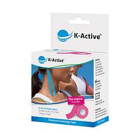Кинезио тейп K-active Classic, розовый, 5м*5см