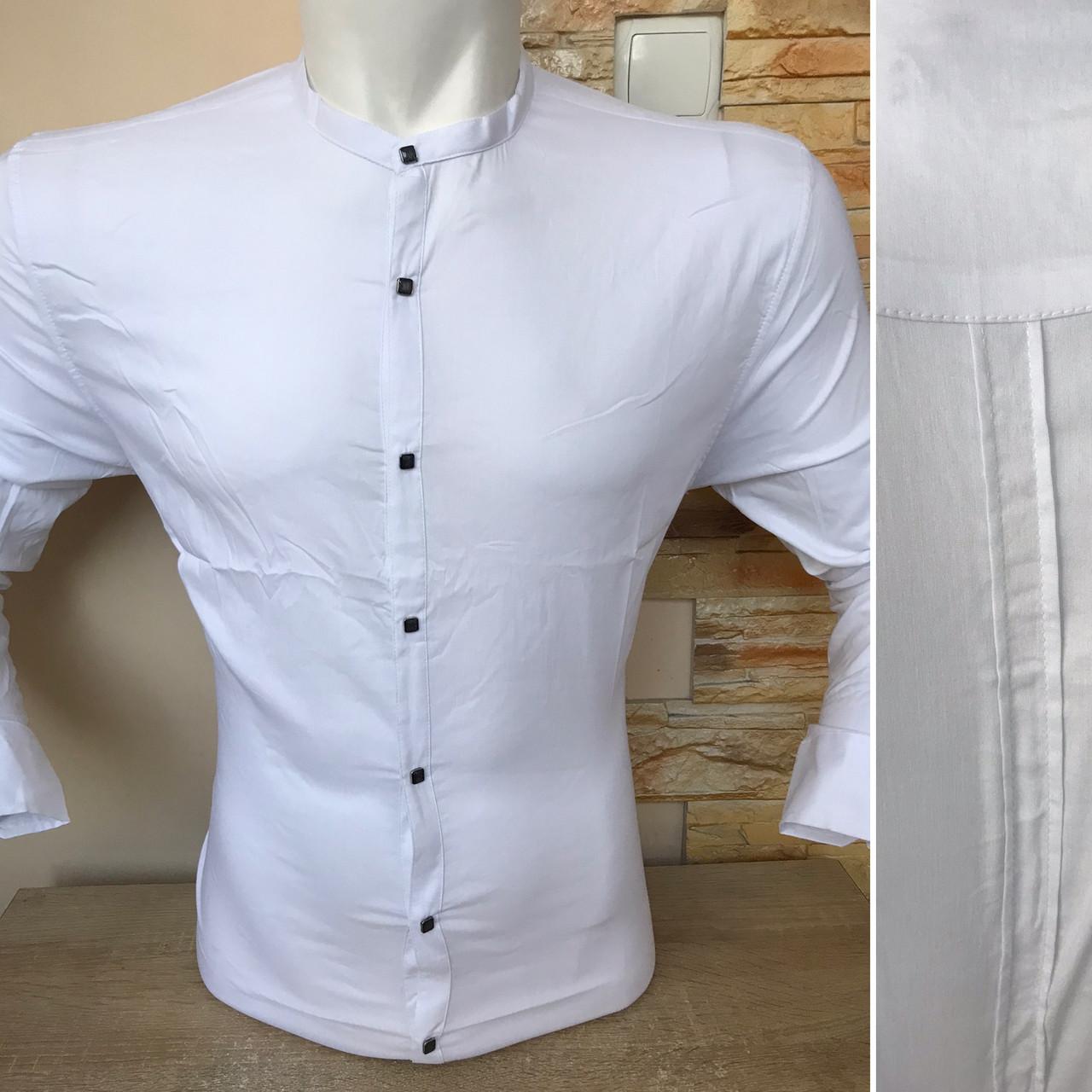 Батальна біла сорочка/стійка-  Black Stone