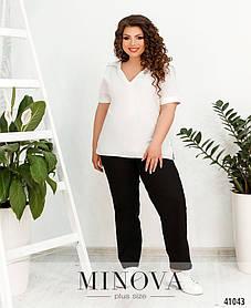 Льняные женские черные брюки с завышенной талией, больших размеров от 50 до 60