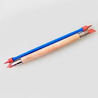 Стеки для лепки с жестким резиновым наконечником (2 шт, размер M). Для глины, воска, мастики
