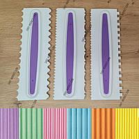 Набор пластиковых шпателей для декорирования тортов