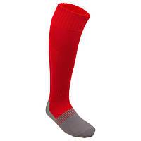 Гетры футбольные Footbal Socks красные, размер 31-35