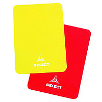 Карточки арбитра SELECT, один комплект, (231) желт/красн