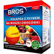 Ловушка от плодовых (фруктовых) мушек с жидкостью (15 мл), Bros