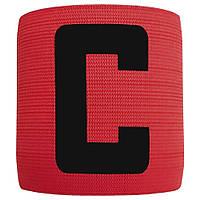 Капітанська пов'язка на липучці SWIFT Capitans Band, червона, Senior