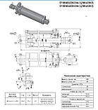 Гидроцилиндр ЦС100х200-3 с пальцами и штуцерами н/о механизма навески МТЗ, ЮМЗ (Ц 100/40х200-3.44), фото 2