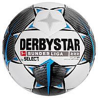 Мяч футбольный DERBYSTAR FB BL BRILLANT APS FIFA (147), бел/черн/сер