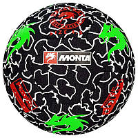 Мяч футбольный MONTA Street Match (003) черн/зел размер 4,5