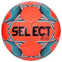 Мяч футбольный SELECT Beach Soccer (314) оранж/синий, размер 5