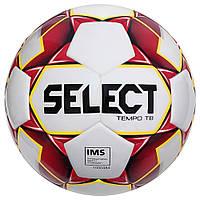 Мяч футбольный SELECT Tempo IMS (010) бело/красн, размер 5