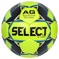 Мяч футбольный SELECT X-Turf (010), желт/серый, размер 4